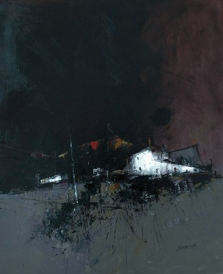 Scottish Artist James SOMERVILLE - Tiree Croft