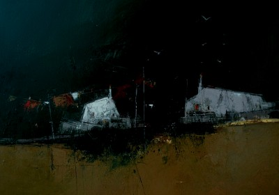 Scottish Artist James SOMERVILLE - Washday Tiree