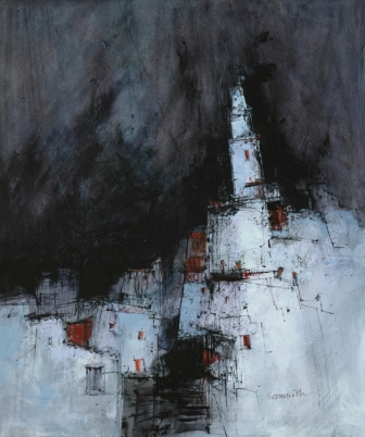 Scottish Artist James SOMERVILLE - Spanish Church