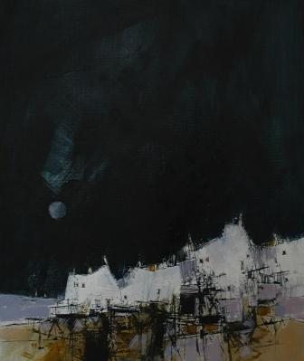 Scottish Artist James SOMERVILLE - Distant Sails