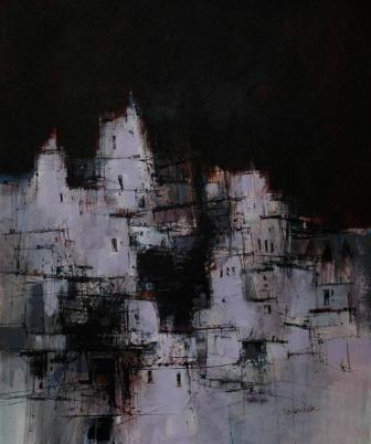 Scottish Artist James SOMERVILLE - Evening Cuenca