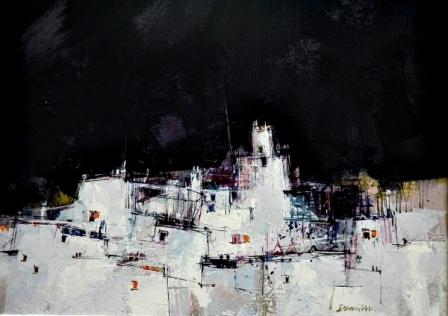 Scottish Artist James SOMERVILLE - White Town, Andalucia