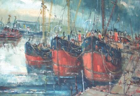 Scottish Artist James WATT - Victoria Harbour