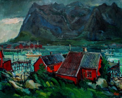 Scottish Artist James WATT - Lofoten Wall, Reine