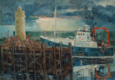 Scottish Artist James WATT - Storm Light, Buckie