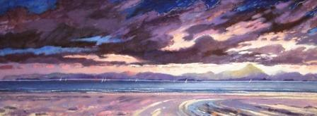 Scottish Artist James DAVIS - Tiree Regatta