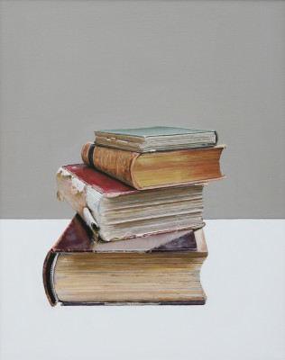 Scottish Artist Jane CRUICKSHANK - Pile of Books