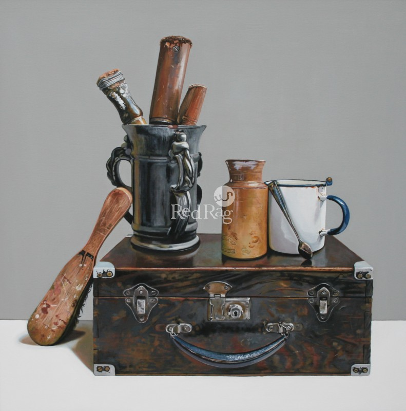 Jane CRUICKSHANK - Still life With Old Wooden Box and Tools