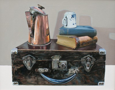 Scottish Artist Jane CRUICKSHANK - Still Life with Copper and Books