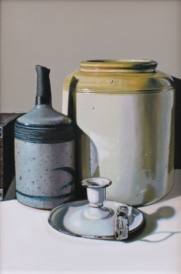 Scottish Artist Jane CRUICKSHANK - Still Life with Speckled Bottle
