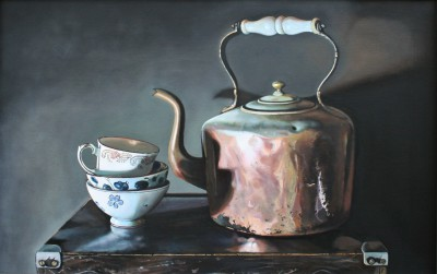 Scottish Artist Jane CRUICKSHANK - Still Life with Copper Kettle