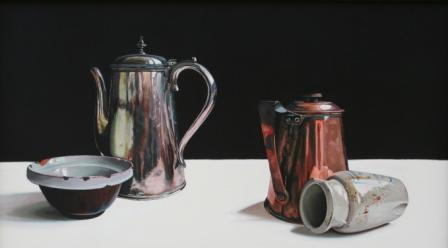 Jane CRUICKSHANK - Still Life with Copper, Silver and Stoneware