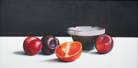 Scottish Artist Jane CRUICKSHANK - Old Bowl with Fruit