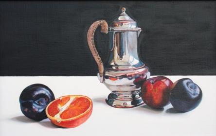 Scottish Artist Jane CRUICKSHANK - Small Coffee Pot and Fruit