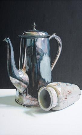 Scottish Artist Jane CRUICKSHANK - Coffee Pot and Stoneware Jar