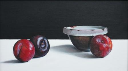 Scottish Artist Jane CRUICKSHANK - Old Bowl with Plums