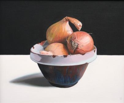 Scottish Artist Jane CRUICKSHANK - Onions in a Bowl