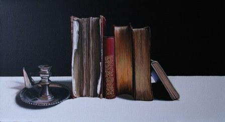 Jane CRUICKSHANK - Candle Holder and Old Books