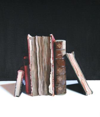Jane CRUICKSHANK - Still Life with Old Books