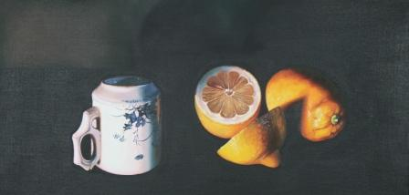 Jane CRUICKSHANK - Still Life with Small Cup & Lemons
