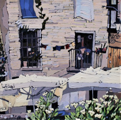Scottish Artist Jennifer IRVINE - Street Cafe, Granada