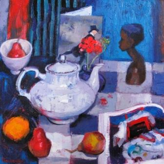 Scottish Artist Jennifer MacKENZIE - White Teapot