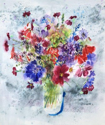 Flowers from Oxenfoord painting by artist Jenny MATTHEWS