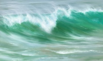 'Emerald Water ' painting