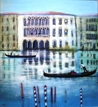 Scottish Artist Jock MacINNES - Two Way Traffic Grand Canal
