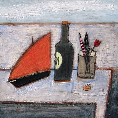 'Still Life with Float and Feather' painting by artist Jock MacINNES