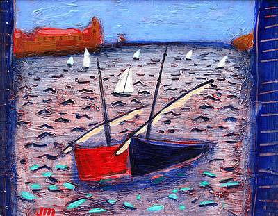Scottish Artist Jock MacINNES - Two Catalan Boats