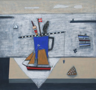 Scottish Artist Jock MacINNES RGI - Harbour View and Still Life