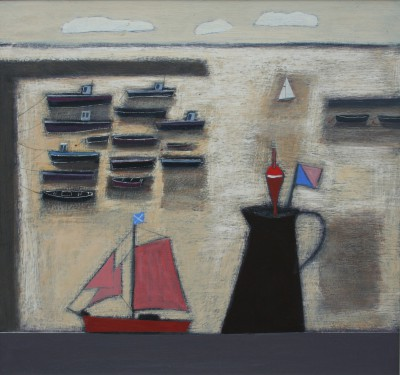 Jock MacINNES RGI - Toy Yacht on a Window Sill