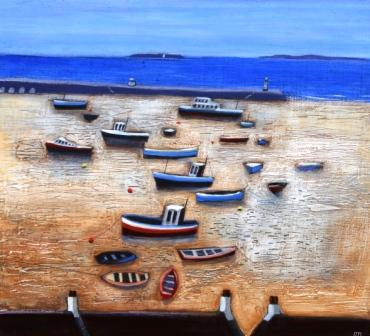 Scottish Artist Jock MacINNES - View to the Harbour, St. Ives