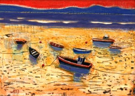 Scottish Artist Jock MacINNES - Sandy Bay, Bute