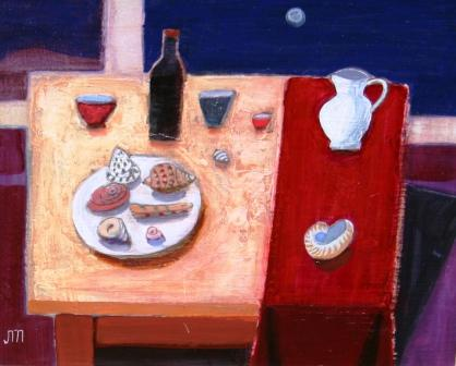 Scottish Artist Jock MacINNES - Still Life with Shells