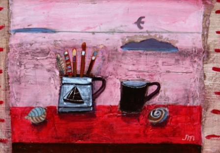 Scottish Artist Jock MacINNES - Still Life with Artist's Brushes