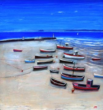 Scottish Artist Jock MacINNES RGI - Ebb and Flow - St. Ives
