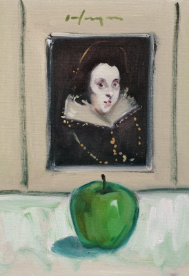 Scottish Artist Joe HARGAN - Antonia and the Green Apple