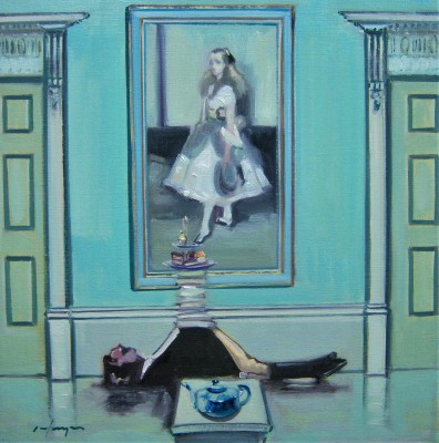 Scottish Artist Joe HARGAN - Afternoon Tea