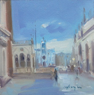 Towards the Clocktower, Venice painting by artist Joe HARGAN