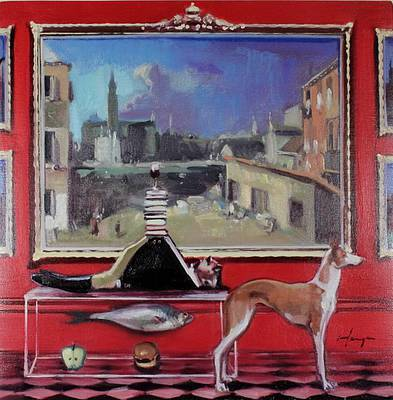Scottish Artist Joe HARGAN - A Fine Red