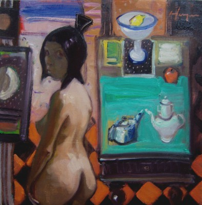 A Glance Behind painting by artist Joe HARGAN