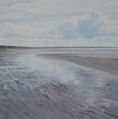 Scottish Artist John BELL - Low Tide at Troon