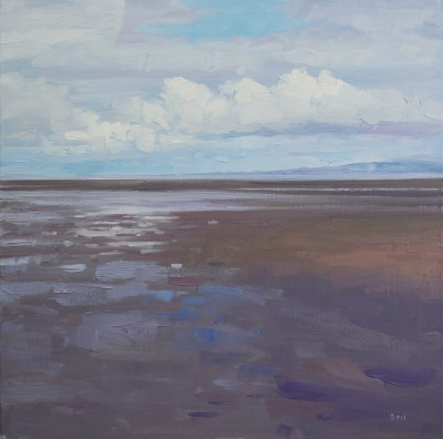 Scottish Artist John BELL - The Beach looking North from Troon