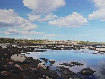 Scottish Artist John BELL - Crail Shore