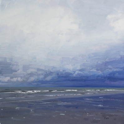 Scottish Artist John BELL - Rain Clouds Gathering at Ayr