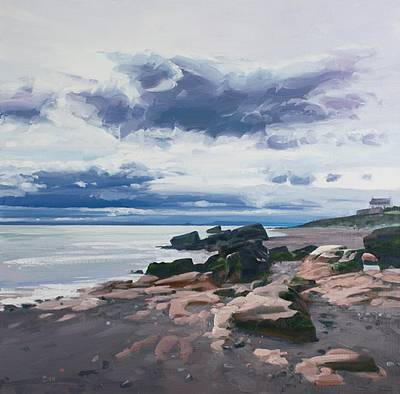 Scottish Artist John BELL - Rocks on Dysart Shore