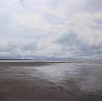 Scottish Artist John BELL - Sands of Luce, Low Tide