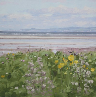 Scottish Artist John BELL - Wild Flowers at Barassie Shore